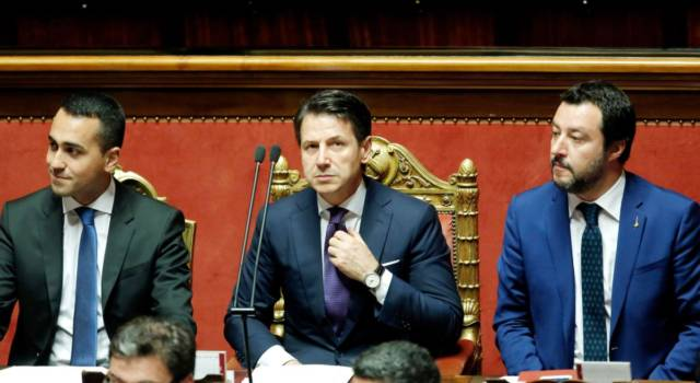 Debito, vertice tra Salvini, Di Maio, Conte e Tria per evitare le sanzioni