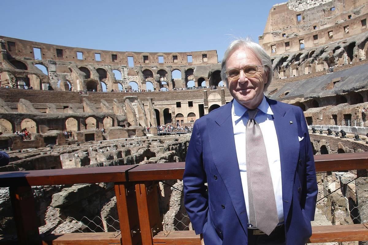 Diego Della Valle, titolare di Tod's, al Colosseo